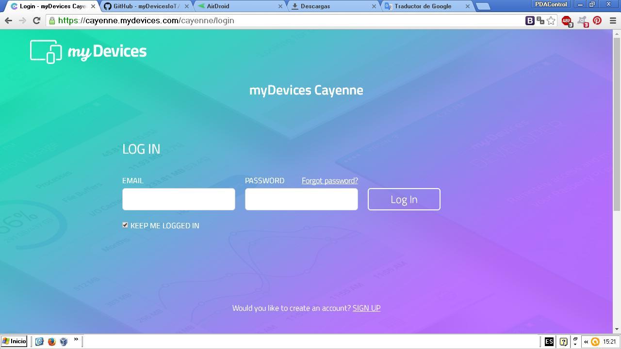 cayenne PDAControl PDAControles.com PDAControlen.com MQTT esp8266 nODE mcu LOra